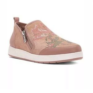 Donald J Pliner Mylasp Pink Suede Slip-On Sneakers
